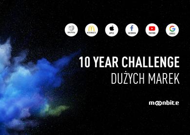 10-year challenge dużych marek. Infografika